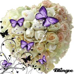 imagem Happy Valentines Day Images, Valentines Flowers, Happy Mothers Day, Butterfly Gif, Butterfly Pictures, Beautiful Gif, Beautiful Roses, Beautiful Butterflies, Love Flowers