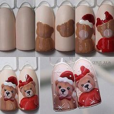 nail designs 2019 french tip nail designs for short nails kiss nail stickers nail art stickers at home essie nail stickers nail designs for fall nail designs for short nails 2019 kiss nail stickers self adhesive nail stickers best nail polish strips 2019 Nail Art Noel, Xmas Nail Art, Cute Christmas Nails, Xmas Nails, Christmas Nail Art Designs, Winter Nail Art, Holiday Nails, Winter Nails, Diy Nails
