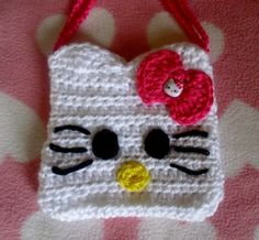 Hello Kitty Crocheted Kids Purse.