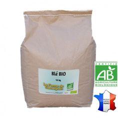 Une Idée pour nos animaux :  Blé BIO - 10 kg  Blé bio. Certifié AB (Agriculture Biologique) Ce produit ne contenant aucun pesticide, il peut y avoir des charançons ou mites, cela n'altere pas les propriétés des céréales, vous pouvez les donner à vos poules. Recommandé par La ferme de Sauvegrain Produit en France  http://www.lafermesauvegrain.com/alimentation-poules-bio-sans-ogm/147-ble-bio.html