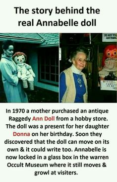 The True And Terrifying Story Behind The Annabelle Doll Wierd Facts, Wow Facts, Intresting Facts, Real Facts, Funny Facts, Movie Facts, Funny Quotes, Interesting Science Facts, Interesting Facts About World