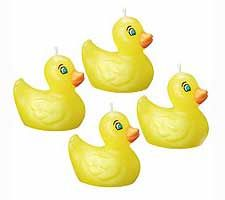 Rubber Ducky 6-Piece Candle Set