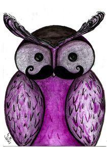 'Moustache Owl' by Jasmin Metzen