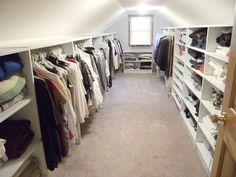 10 Accomplished Clever Tips: Attic Closet How To Build attic apartment sleeping nook.Attic Closet How To Build. Attic Wardrobe, Attic Closet, Closet Bedroom, Attic Office, Closet Wall, Corner Office, Master Closet, Attic Apartment, Attic Rooms