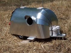 My Dad would love this.  Vintage Aluminum Airstream Birdhouse Trailer. $75.00, via Etsy.