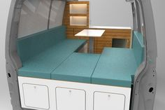 Individueller Campingbus / Wohnmobil Innenausbau - Konzepterstellung • bullifaktur T4 Camper, Campervan Interior, Campervan Ideas, Vw T4, Der Bus, Rv Camping, Van Life, Stairs, Vans