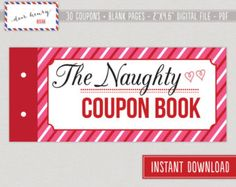 mature sexy printable valentines day coupon book love coupons christmas naughty or romantic gift - Naughty Valentines Gifts