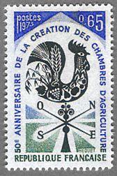 50ème anniversaire de la création des Chambres d´Agriculture - Timbre de 1973