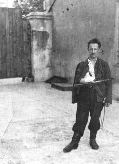 Chaim Lazar, a Jewish partisan from Vilna. After WWII hundreds of thousands of the Jewish population were annihilated.