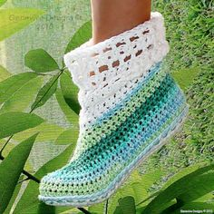 Instant Download  Crochet Pattern  Cuffed Boots for by Genevive, $4.95