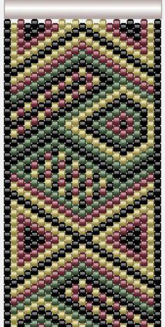 Peyote Cuff Bracelet Pattern by AllYouCanBead