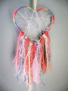 Nursery Dreamcatcher Mobile Baby Pastel Decor Flower Gift Pink