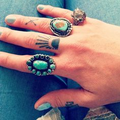 Finger tattoos...