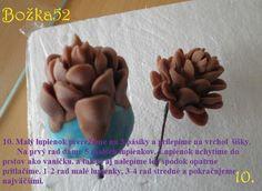 Tutorial gumpaste pine cone
