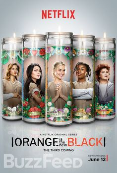 The brand new poster for Orange Is the New Black Season 3 features Daya, Alex, Piper, Suzanne, and Red on saint candles...and if you look closely, there are a whole lot of memorable items from their pasts.