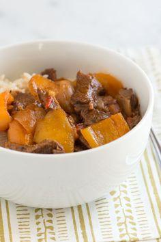 This looks perfect for autumn! Pepper Steak Slow Cooker Recipe from www.inspiredtaste.net #recipe #steak #inspiredtaste