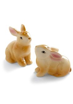 I LOVE anything bunny, and can't resist animal-shaped salt and pepper shakers! Hop on Down Shaker Set $11.99