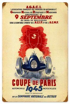 Coup de Paris Tin Sign