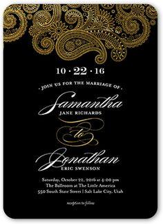 Regal Paisley 5x7 Wedding Card | Wedding Invitations
