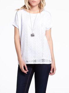 Petite Eyelet T-Shirt