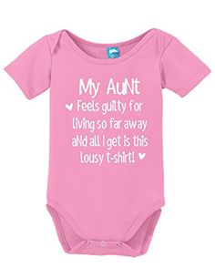 My Aunt Feels Guilty Printed Infant Bodysuit Baby Romper Pink 03 Month *** Details can be found by clicking on the image.Note:It is affiliate link to Amazon.