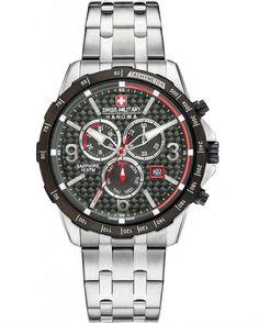 Από τον οίκο Swiss Military Hanowa το Ace Chrono ένα ρολόι από ανοξείδωτο ατσάλι και μαύρο καντράν