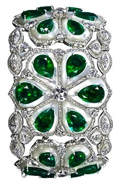 Emerald & Diamond Bangle ♥✤