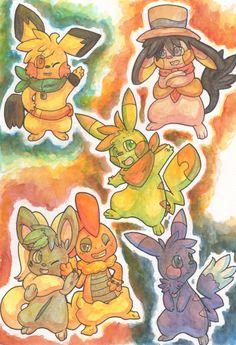 Watercolour Pokemon Batch 2 by Yakalentos.deviantart.com on @deviantART
