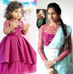 Ideas Dress Fashion Kids Sisters Source by Blouses Mom Daughter Matching Dresses, Mom And Baby Dresses, Dresses Kids Girl, Kids Dress Wear, Kids Gown, Girls Wear, Kids Lehenga, Lehenga Choli, Anarkali
