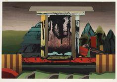Jan Senbergs   Modern monument in colour, (1975)   Art Gallery NSW   screenprint
