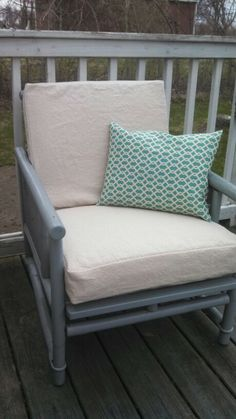 How To Recover Patio Cushions Without Sewing | Patio Cushion Covers, Patio  Cushions And Canvas Drop Cloths