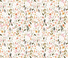 Sweet Mod - Sprigs And Flowers fabric by babybubbleco on Spoonflower - custom fabric