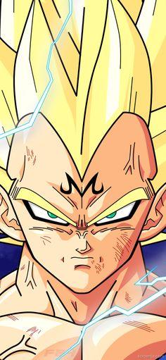 Fan art Dragon Ball / Tool, website to create a wallpaper for your smartphone Dragon Ball Gt, Dragon Ball Z Shirt, Dragon Z, Majin, Dbz Vegeta, Dbz Wallpapers, Ball Drawing, Akira, Kawaii Anime