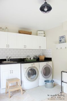 Tips for Designing and Decorating Your Laundry Room - Image via So Much Better with Age | www.andersonandgrant.com