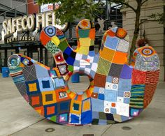 nifty quilts: July 2012 - Seattle Mariners baseball park.