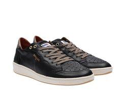 Sneaker Blauer uomo 7s retrolow lea black pelle bassa spring summer 2017