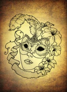 Venetian Mask by blacksilence92.deviantart.com on @deviantART