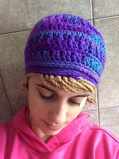 Ravelry: Chemo Hat pattern by Krazy Krafts Crochet Headband Pattern, Crochet Beanie, Knitted Hats, Crochet Patterns, Crochet Hats, Hat Patterns, Free Crochet, Chemo Caps Pattern, Hats For Cancer Patients