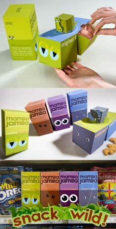What an impact these must make on shelves? A fairly intricate packaging design  what kid wouldn't love these?