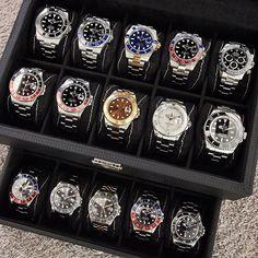 Box full of Rolex watches. Photo by – All Pictures Amazing Watches, Beautiful Watches, Cool Watches, Watches For Men, Dream Watches, Luxury Watches, Rolex Watches, Audemars Piguet, Rolex Vintage