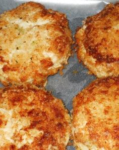 Chicken Croquettes...My sister-in-law used the recipe off of Diners, Drive-ins & Dives and my mother-in-law said they were YUMMY!!  Will have to try them out.