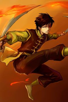 Zuko and his fire swords! I love how he's proficient in another weapon even though he's a firebender, like he wanted to rely on something other than that. He's such a complicated and awesome character!!!