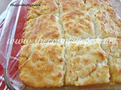 The Country Cook: Butter Dip Biscuits...no rolling or kneading!