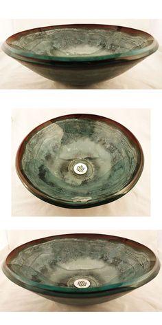 Sagestone Hand-crafted Glass Vessel Sink   SinksGallery.com