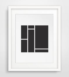 Black Minimalist Square Art Black Home Decor by MelindaWoodDesigns #Minimalistprints