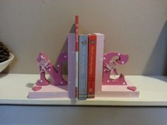 Letter and Shape Book Ends - Dancing Duck Designs Dancing Duck, Shape Books, Bookends, Colours, Shapes, Lettering, Design, Calligraphy