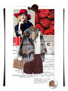 """""""Red Love ."""" by doris-knezevic ❤ liked on Polyvore featuring CECILIE Copenhagen, Lee Angel Jewelry, Pure Home, Forever 21, Michael Kors, women's clothing, women, female, woman and misses"""
