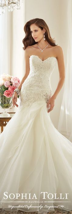 The Sophia Tolli Spring 2015 Wedding Dress Collection - Style No. Y11563 Lark www.sophiatolli.com #weddingdresses