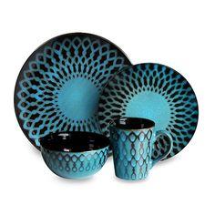 American Atelier Sicily Blue Dinnerware Set - Overstock™ Shopping - Great Deals on American Atelier Casual Dinnerware Eclectic Dinnerware Sets, Blue Dinnerware Sets, Stoneware Dinnerware Sets, Square Dinnerware Set, Casual Dinnerware, Tableware, Kitchenware, Brown Dinnerware, Dinnerware Gifts