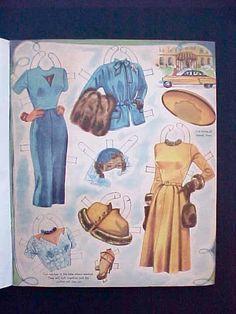 Cute 1950's Paper DollsCareer Girls by by Moonmaidenemporium, $24.00